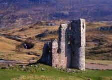 Ruines de château d'Ardvreck, loch Assynt, Ecosse Photos libres de droits