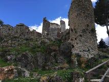 Ruines de château de Casares Images libres de droits