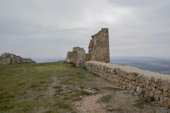 Ruines de château de Gormaz Photos stock