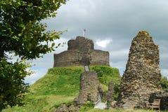 Ruines de château de Launceston, les Cornouailles Photo stock