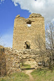 Ruines de château de Torockszentgyrgy, Roumanie Images stock