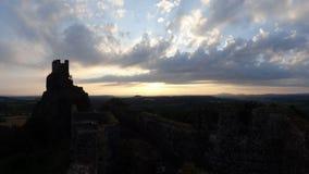 Ruines de château de Trosky Photos libres de droits