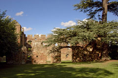 Ruines de château du WS Acton-Burnell Image libre de droits