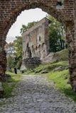Ruines de château en Europe - image courante Image stock