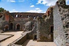Ruines de château impérial à Duesseldorf images libres de droits