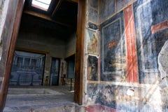 Ruines de Chambre de Vettii à Pompeii, Italie image stock