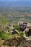 Ruines de Chambre, ville supérieure, Mystras photographie stock