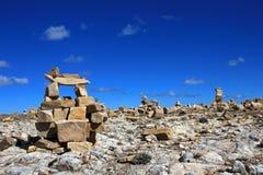 Ruines de Chincana à l'île du Sun, lac Titicaca, Bolivie Photo libre de droits