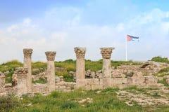Ruines de citadelle d'Amman en Jordanie Images libres de droits