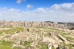 Ruines de citadelle d'Amman en Jordanie Photo libre de droits