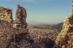 Ruines de citadelle de Rasnov image libre de droits
