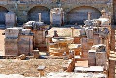 Ruines de cloître de Santa Clara Velha à Coimbra Photo libre de droits