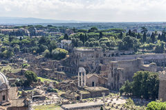 Ruines de colline de Palatine Images stock