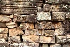 Ruines de colonne au site d'Angkor, Cambodge images libres de droits