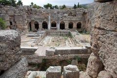 Ruines de Corinthe Images stock