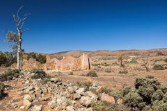 Ruines de ferme de Kanyaka d'abandon. Australie du sud. Image stock