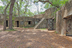 Ruines de fort Fremont près de Beaufort, la Caroline du Sud Image stock