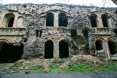 Ruines de fort de Tarakanivskiy, région de Rivne, Ukraine Photo stock