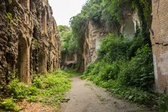 Ruines de fort de Tarakanivskiy, région de Rivne, Ukraine Image stock