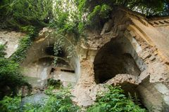 Ruines de fort de Tarakanivskiy, région de Rivne, Ukraine Photos libres de droits