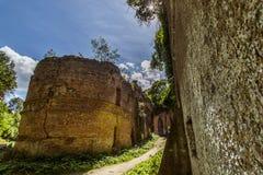 Ruines de fort de Tarakanivskiy, région de Rivne, Ukraine Photographie stock libre de droits