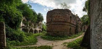 Ruines de fort de Tarakanivskiy, région de Rivne, Ukraine Images libres de droits