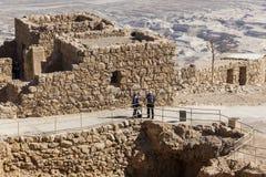Ruines de forteresse antique de Masada l'israel images libres de droits