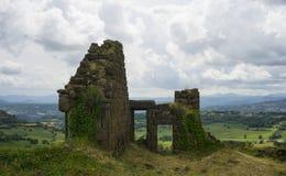 Ruines de forteresse de Polignac Images stock