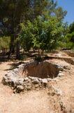 Ruines de forteresse de tabouret dans Alanya Images stock