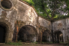Ruines de fortifications de Przemysl Photographie stock libre de droits