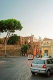 Ruines de forum de Trajan dans la vieille ville de Rome Image stock