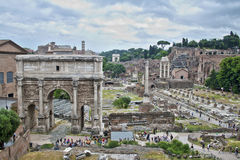 Ruines de forum, Rome, Italie Photo libre de droits