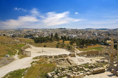 Ruines de Gerasa (Jerash) Images libres de droits