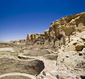 Ruines de gorge de Chaco Photo libre de droits