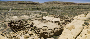 Ruines de gorge de Chaco Image libre de droits