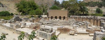 Ruines de Gortyna antique Photos stock