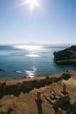 ruines de Grec Image libre de droits