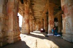 Ruines de Hampi, Inde Photographie stock
