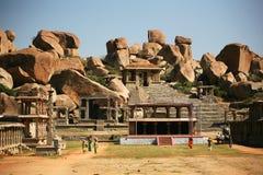Ruines de Hampi, Inde Photos libres de droits