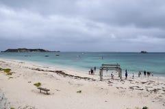 Ruines de jetée à la baie de Hamelin Image libre de droits