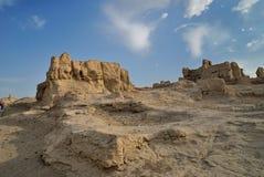 Ruines de Jiaohe Photos libres de droits