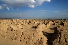 Ruines de Jiaohe Image libre de droits