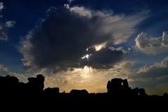 Ruines de Jiaohe Photographie stock