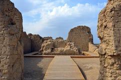 Ruines de Jiaohe Photographie stock libre de droits