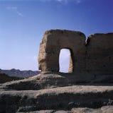 Ruines de Jiaohegucheng Photographie stock