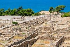 Ruines de Kamiros Rhodes, Grèce Photos stock