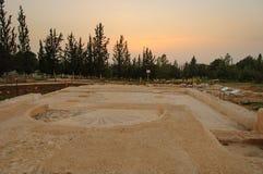 Ruines de l'église bizantine, CE 15 centuty Photos stock