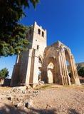 Ruines de l'église dans Palenzuela Photographie stock