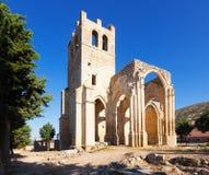 Ruines de l'église de Santa Eulalia dans Palenzuela Photos stock