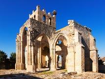 Ruines de l'église de Santa Eulalia dans Palenzuela Images stock